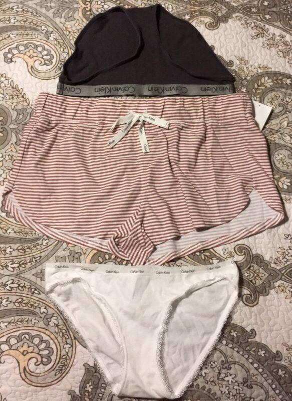 NWT CALVIN KLEIN Sleepwear Shorts Size L / SET 2 underwear size M