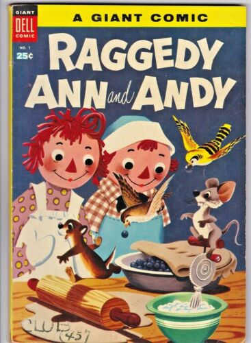 RAGGEDY ANN and ANDY / DELL GIANT # 1 (1955) WALT DISNEY - 100 pages