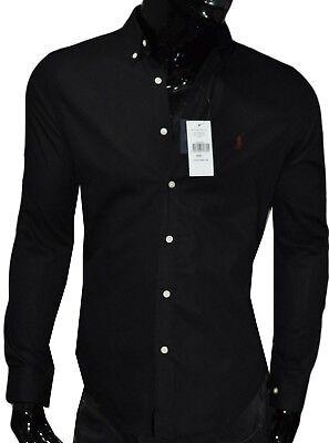 Herren Hemd von Ralph Lauren Slim Fit Small Pony Größe L wie Neu schwarz black