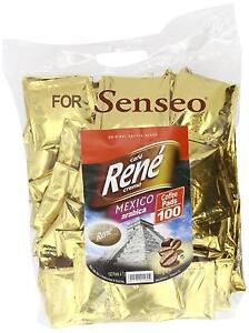 PHILIPS-SENSEO-100-x-Cafe-Rene-Crema-Mexico-cafe-almohadillas-Bolsas-capsulas