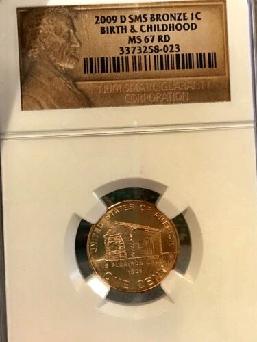 2009-D SMS BRONZE Lincoln Cent Penny BIRTH & CHILDHOOD MS67RD NGC
