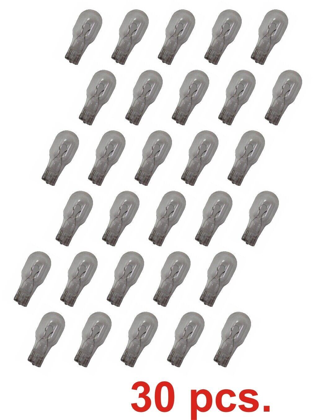 30 TORO 7 Watt Clear T-5 Wedge 12 V Replacement Bulbs for La