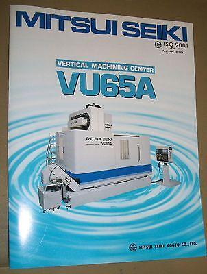 Mitsui Seiki Vmc Vu65a Specification