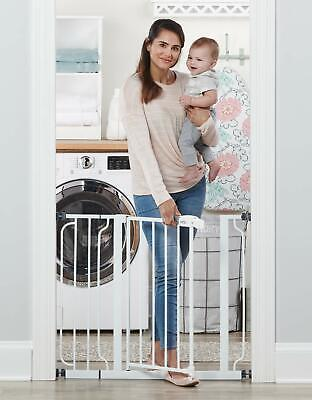 "Regalo Easy Step 38.5-Inch Extra Wide Walk Thru Baby Gate, Includes 6"" Extension"