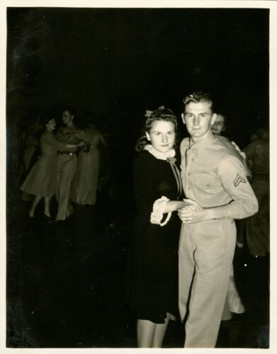 1940 Hickam Field Hawaii Photo #2, Shows of Shows, airman and lady dancing