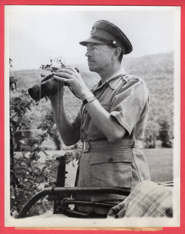 1944 British General Alexander Allied CinC Italy in 8th Army Sector News Photo
