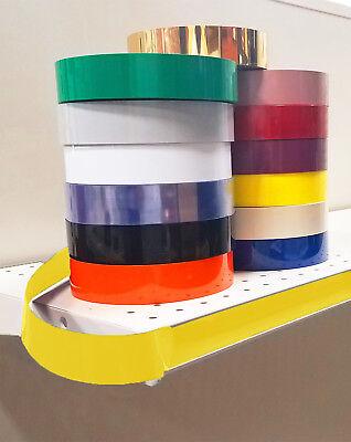 Decorative Gondola Shelving Vinyl Inserts Yellow 130 Ft X 1.25 In