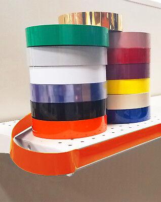 Decorative Gondola Shelving Vinyl Inserts Orange 130 Ft X 1.25 In
