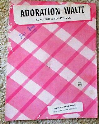 Adoration Waltz - by Al Lewis & Larry Stock Sheet Music - Adoration Sheet Music