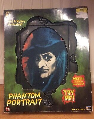 PHANTOM PORTRAIT TALKING  GEMMY ANIMATED HALLOWEEN IN BOX (Halloween Portrait)