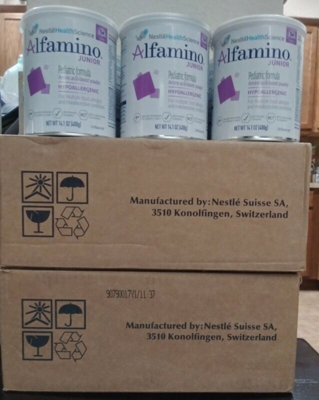 (11) 14.1oz Cans Nestle Alfamino Junior Jr Hypoallergenic Formula Ex 9/21+