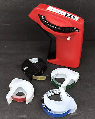 Dymo I.d. 2001-01 Label Maker With Extra Colored Rolls Used