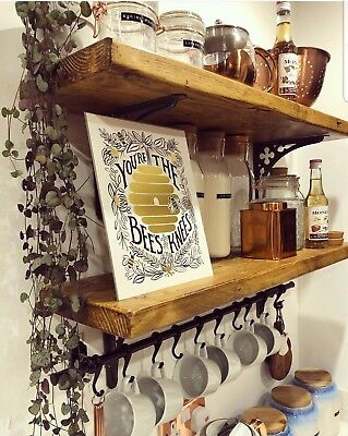Reclaimed Scaffold Board Shelf - 17 Sizes-industrialrustic Shelves-solid Wood
