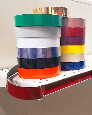Decorative Gondola Shelving Vinyl Inserts Red 130 Ft X 1.25 In