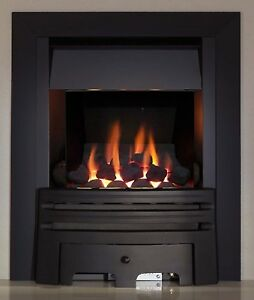 GAS FIRE BLACK COAL CLASS1 FULL DEPTH INSET GAS FIRE HIGH 4kw HEAT OUTPUT BNIB