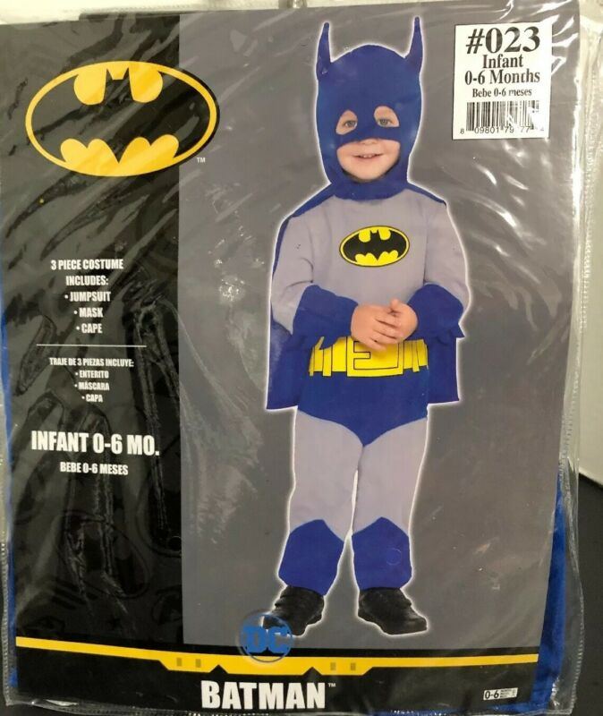DC Batman Infant 0-6 Months Costume - NEW