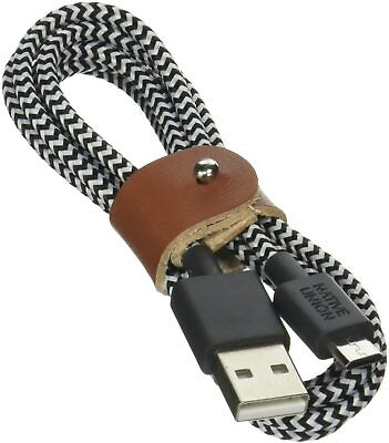 NATIVE UNION Belt Cable Micro-USB to USB A 1.2m Braided Cable   ...