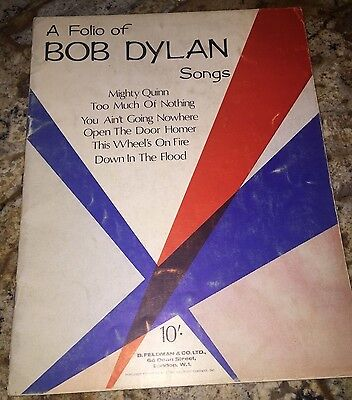A Folio Of BOB DYLAN  Deluxe Edition Songbook Music Book