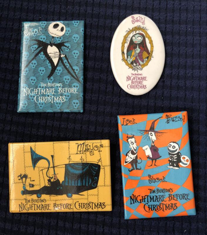 Lot Of 4 Vintage Disney Nightmare Before Christmas Pin Jack Sally Mayor & LSB