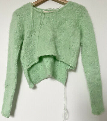 Helen Lawrence Mohair Green Crop Sweater Size S
