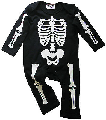 Baby Skelett Strampler Anzug Halloween Lustig Kostüm Overall - Lustige Skelett Kostüme