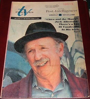 1975 SEATTLE TV PREVUES GUIDE~JACK ALBERTSON~CHICO and the MAN~MICHAEL LINK