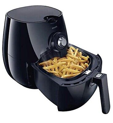 NEW Philips HD9226/23 Viva Airfryer 1.8lb/2.75qt Black Fryer w Double Layer Rack