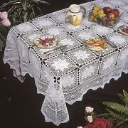 Ecru Crochet Tablecloth