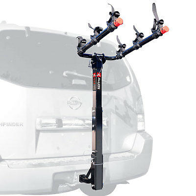 Allen Sports Deluxe 3 Bike Storage Mount Carrier Rack Hitch for Car Back Bumper