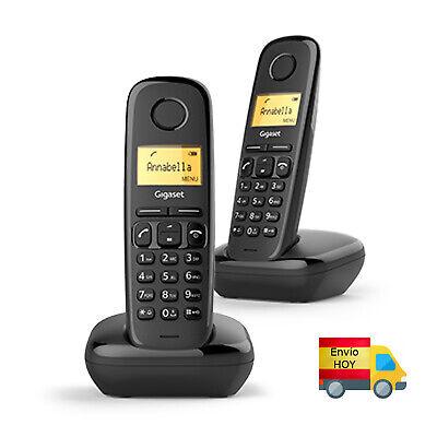 DUO TELEFONO FIJO INALAMBRICO GIGASET A170 DUO 50 NUMEROS AGENDA 10 ENVIO...