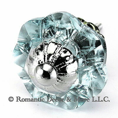 Glass Drawer Knobs, Chrome Cabinet Pulls and Art Deco Drawer Handles #K186FF Art Deco Cabinet Knobs