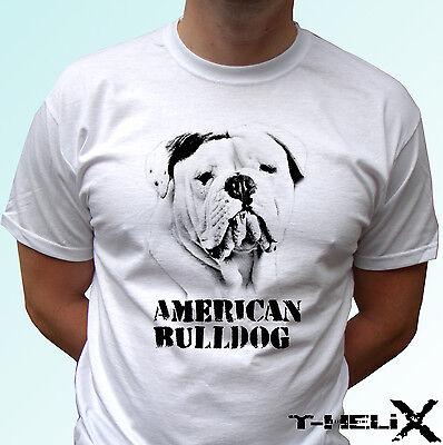 Dog Design Tee T-shirt - American Bulldog - dog t shirt top tee design - mens womens kids & baby sizes