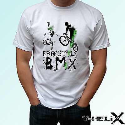 Freestyle BMX - white t shirt top sport design - mens womens kids baby (Bmx Kids T-shirt)
