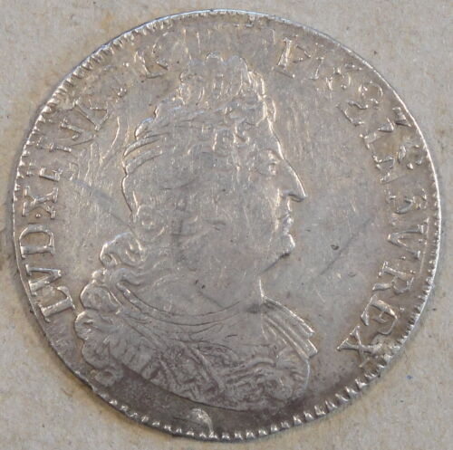 France 1705-A Half Ecu KM-355.1 Better Circulated Grade