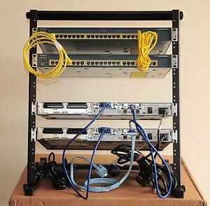 Cisco-CCNA-LAB-2-2620XM-2-WS-C2950-24-12U-Rack-Stand-2-x-WIC-1CCNP-6MthWar