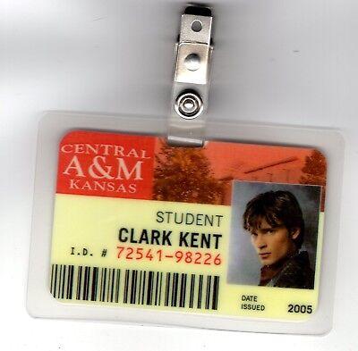 Superman Smallville ID Badge-Student Clark Kent costume prop cosplay