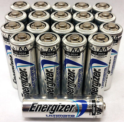 Energizer Ultimate Lithium AA Batteries 20 Pack EXP 2036 for sale  Brooklyn