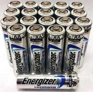 energizer ultimate lithium aa batteries 20 pack exp 2036 ebay. Black Bedroom Furniture Sets. Home Design Ideas
