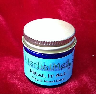 Heal Salve (Organic Heal It All Herbal Organic Salve, 1oz Glass Bottle)