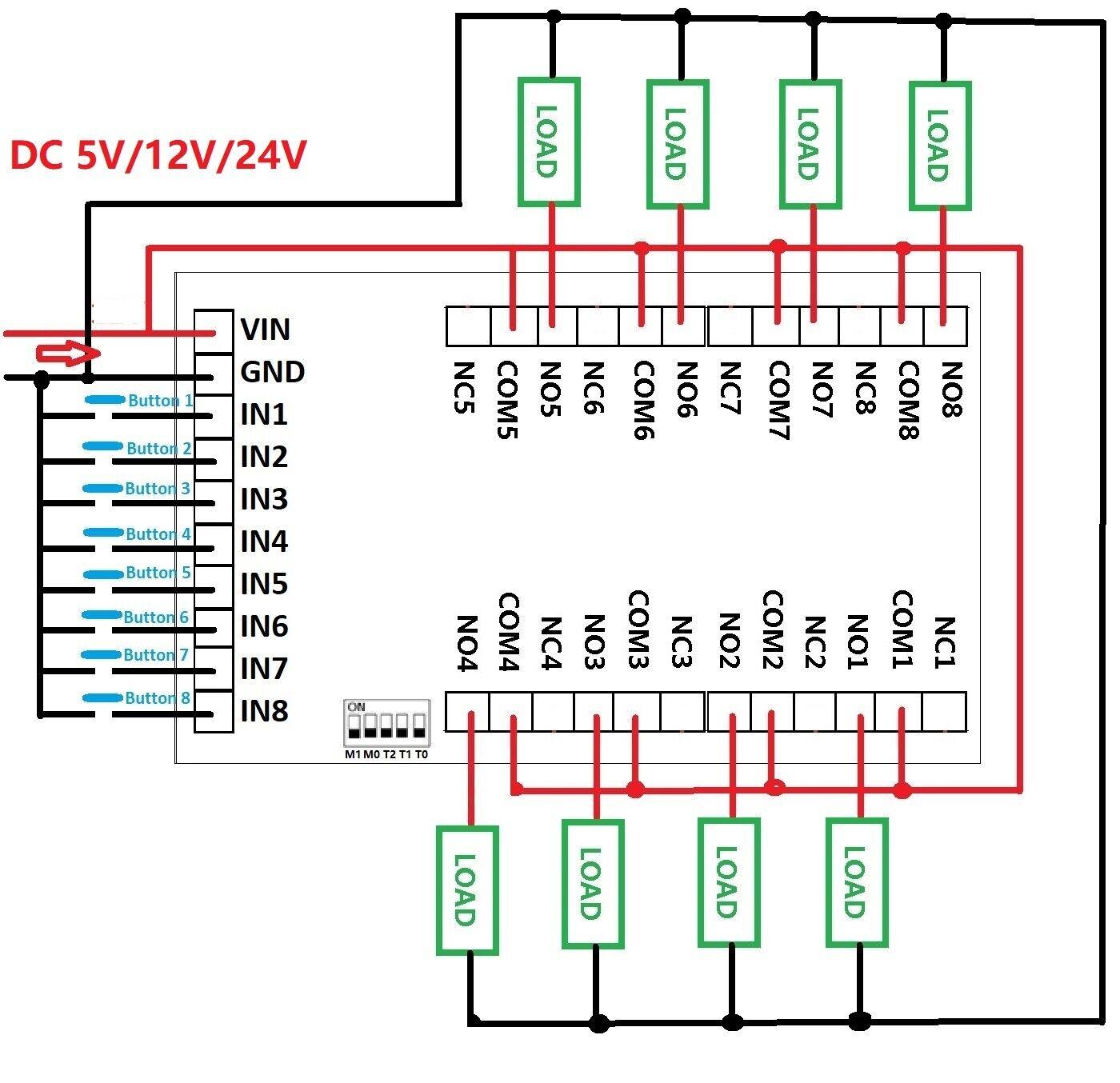 Détails sur 40 pcs 40ch Flip Flop Latch Relay Board bistable  Auto Verrouillage Commutateur électronique  afficher le titre d'origine