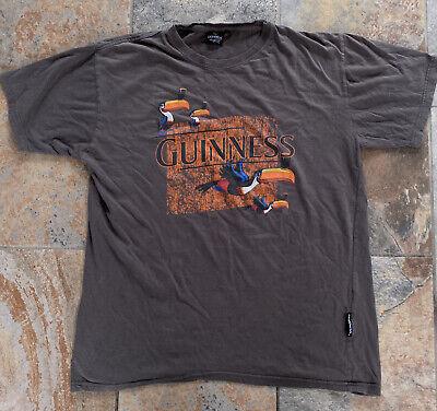 Official Merchandise Guinness Beer Toucans Short Sleeve Gray T Shirt, Size XL