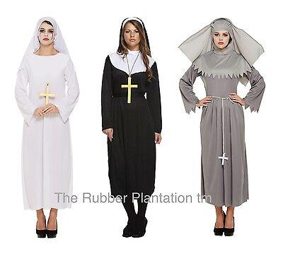 Weiblich Nonne Kostüm Nonne Habit Halloween Kostüm Erwachsene Größe Schwester (Halloween Kostüme Weiblich)