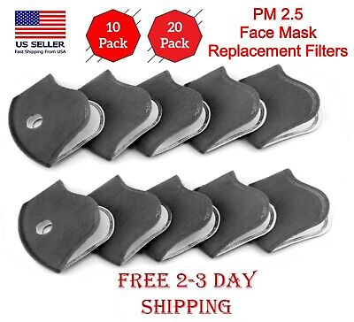 Face Mask Replacement Filters 1020 5-layers Activated Carbon Filters