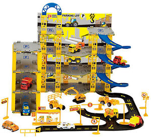 Kids Parking Garage Toy Car Truck City 5 Levels Park Boys Vehicle Play Set Game