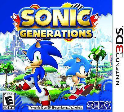 Sonic Generations  Nintendo 3Ds  2011  Brand New