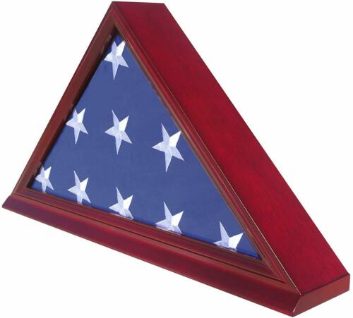 High Quality Burial/Memorial Flag Display Case for 5