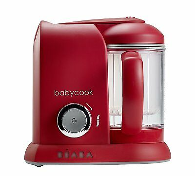 Beaba Babycook Food Processor Blender Steamer Baby Food - UK Plug - Red - NEW