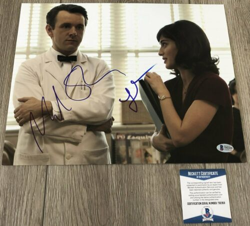 LIZZY CAPLAN & MICHAEL SHEEN SIGNED MASTERS OF SEX 11x14 PHOTO w/PROOF & BAS COA
