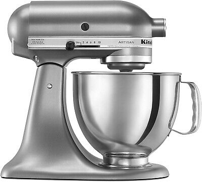 KitchenAid KSM150PSCU Tilt Head Stand Mixer Silver, Completely New in Box