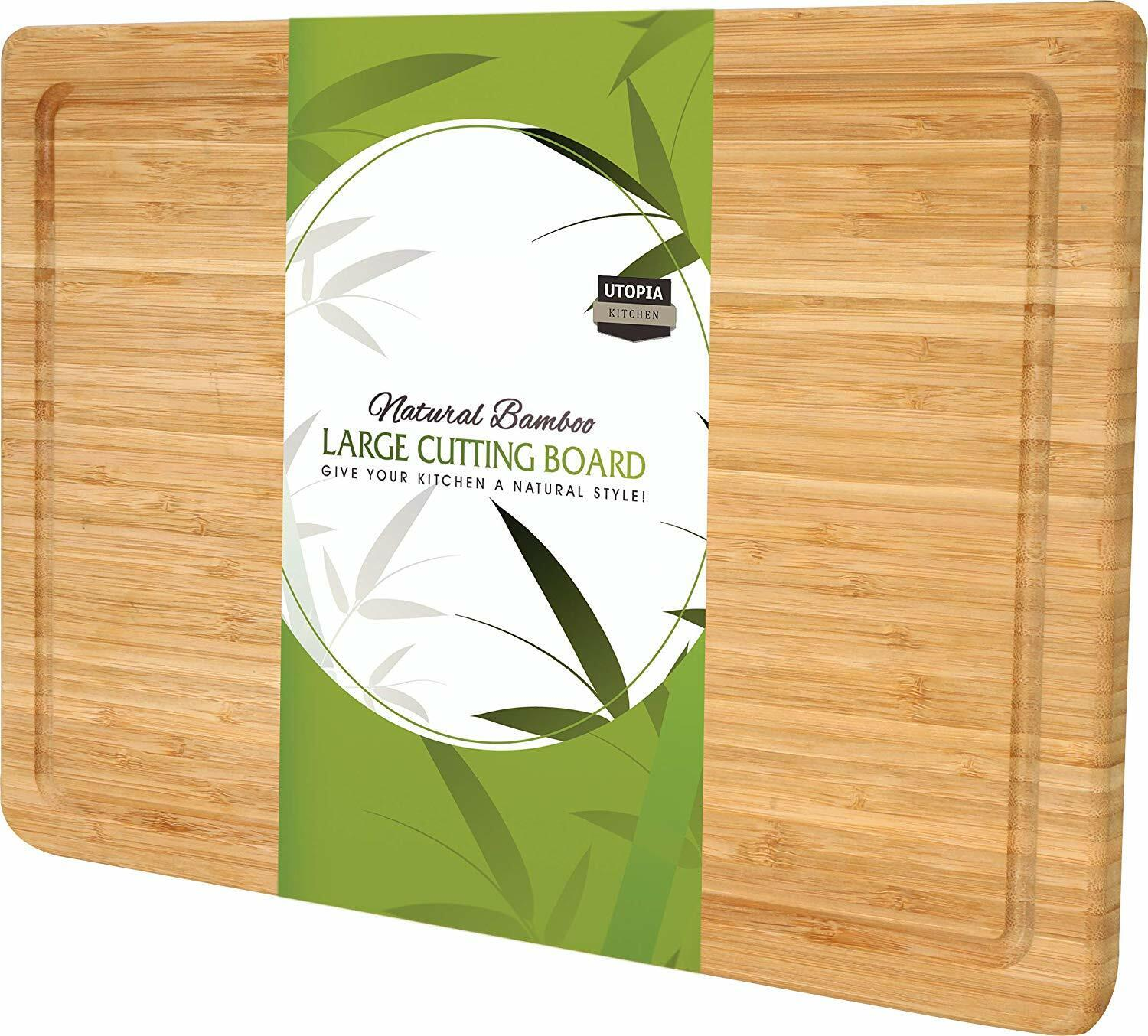 Utopia Kitchen Extra Large Bamboo Cutting Board XL 17 x 12 i